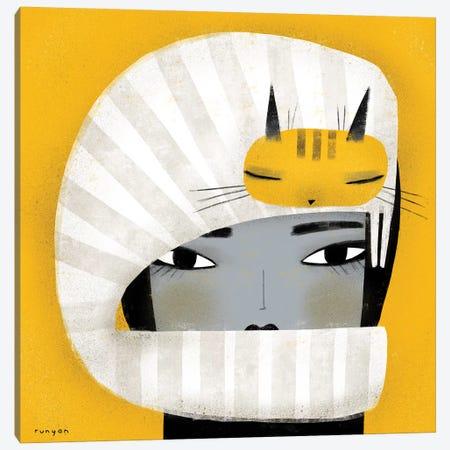 Hat Scarf Combo Canvas Print #TRU45} by Terry Runyan Art Print