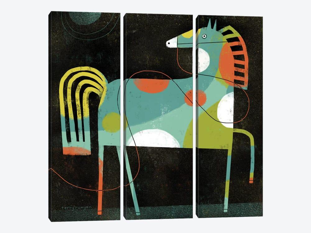 Horse by Terry Runyan 3-piece Canvas Wall Art