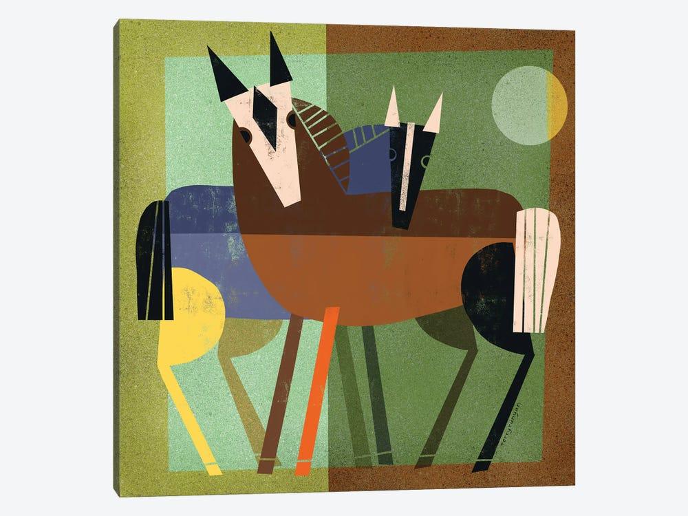Horse Hug by Terry Runyan 1-piece Canvas Art Print