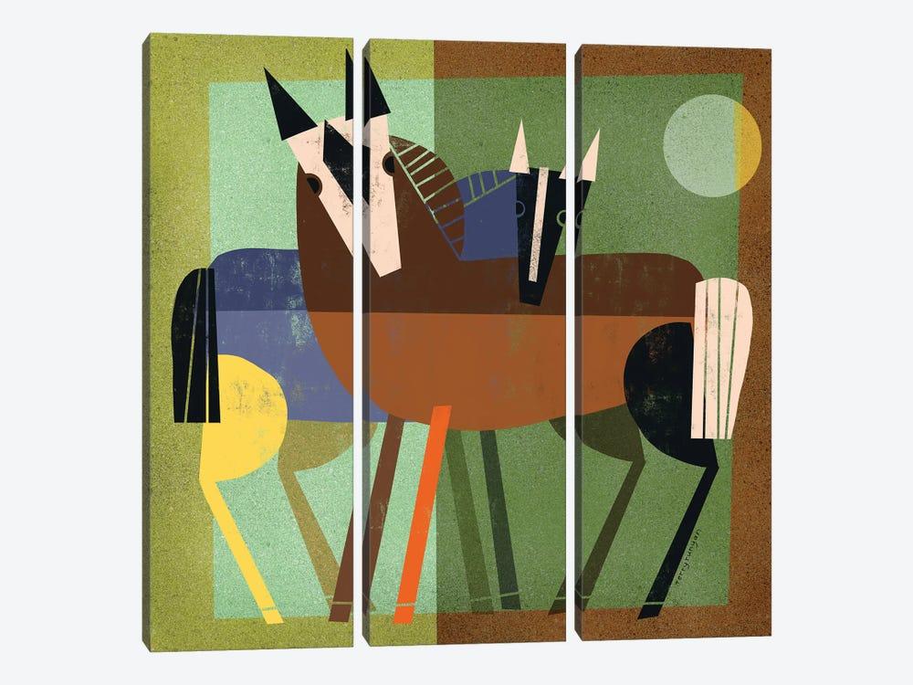 Horse Hug by Terry Runyan 3-piece Art Print