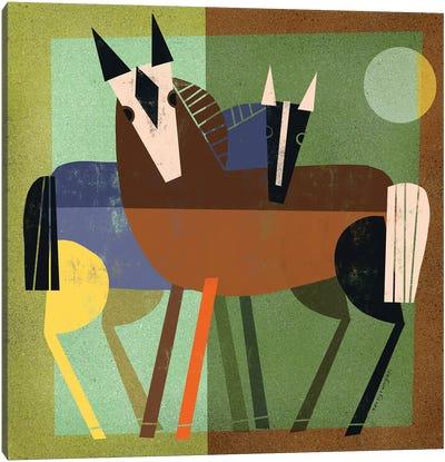 Horse Hug Canvas Art Print