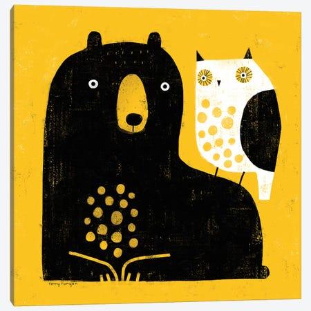 Bear - Owl Canvas Print #TRU4} by Terry Runyan Canvas Wall Art