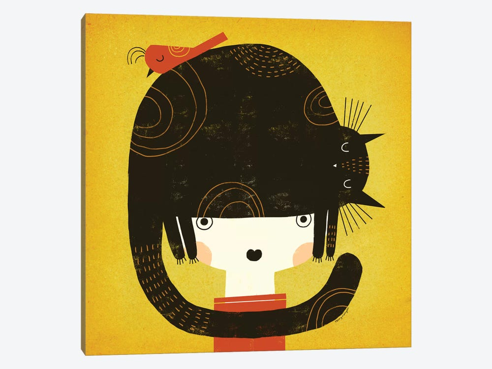 Nappy Hat by Terry Runyan 1-piece Canvas Artwork
