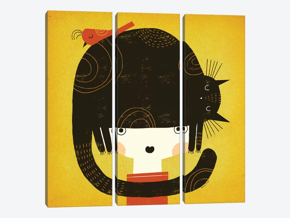 Nappy Hat by Terry Runyan 3-piece Canvas Art