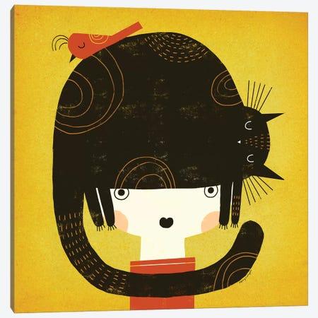 Nappy Hat Canvas Print #TRU50} by Terry Runyan Canvas Art Print