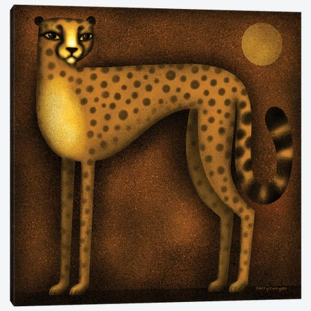 Night Cheetah Canvas Print #TRU51} by Terry Runyan Canvas Print