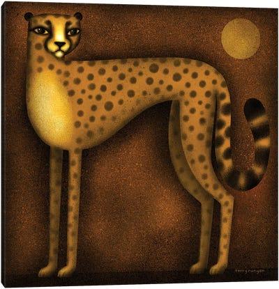 Night Cheetah Canvas Art Print