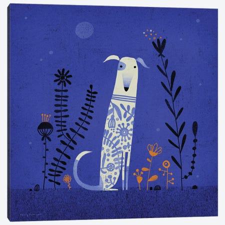 Night Hound Canvas Print #TRU52} by Terry Runyan Art Print