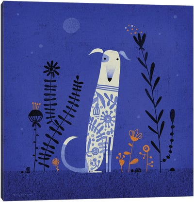 Night Hound Canvas Art Print