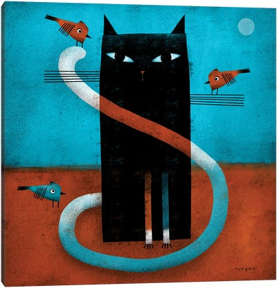 Offset Whiskers Canvas Art Print