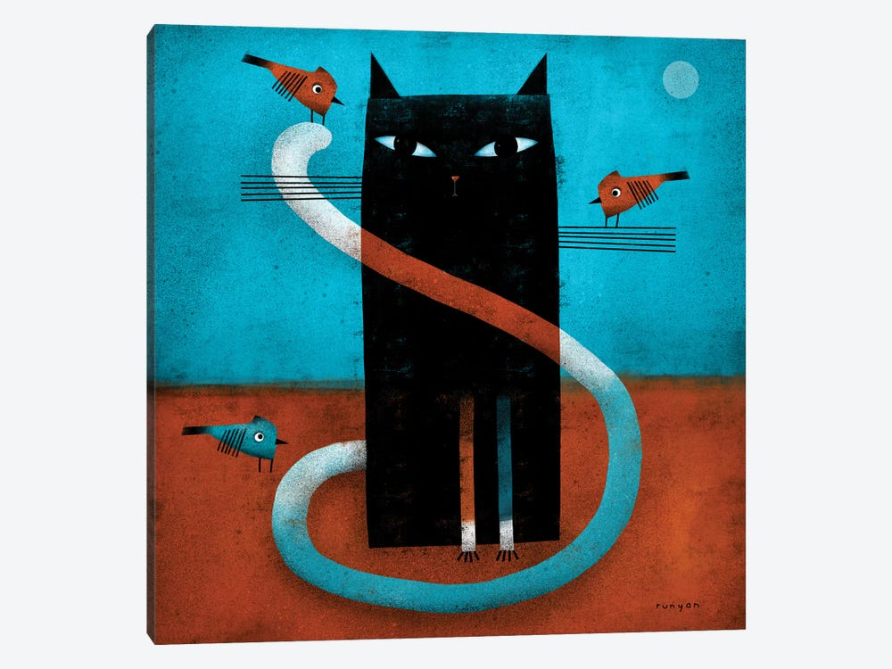 Offset Whiskers by Terry Runyan 1-piece Canvas Art Print