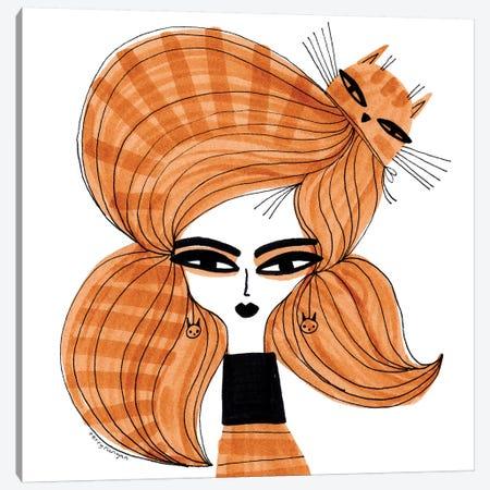 Orange Tabby Hair Canvas Print #TRU56} by Terry Runyan Canvas Wall Art