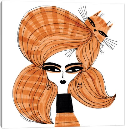 Orange Tabby Hair Canvas Art Print