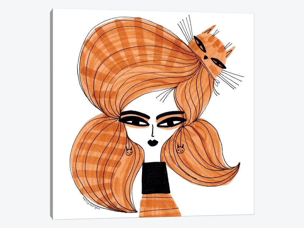 Orange Tabby Hair by Terry Runyan 1-piece Canvas Art