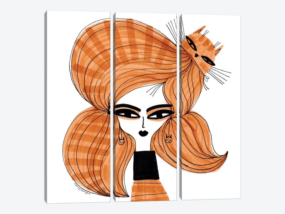 Orange Tabby Hair by Terry Runyan 3-piece Canvas Art