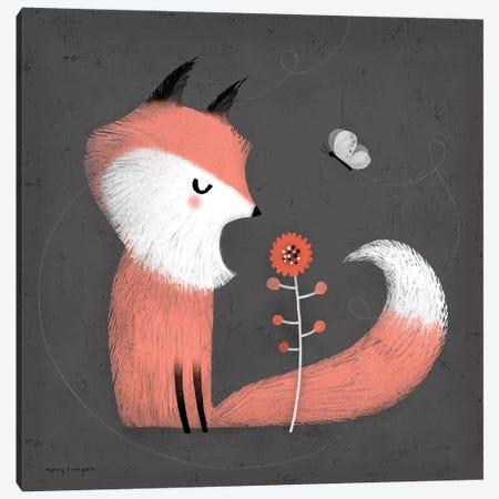 Pink Fox Canvas Print #TRU57} by Terry Runyan Canvas Artwork