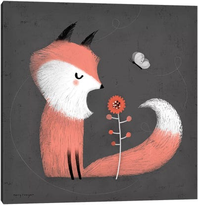 Pink Fox Canvas Art Print