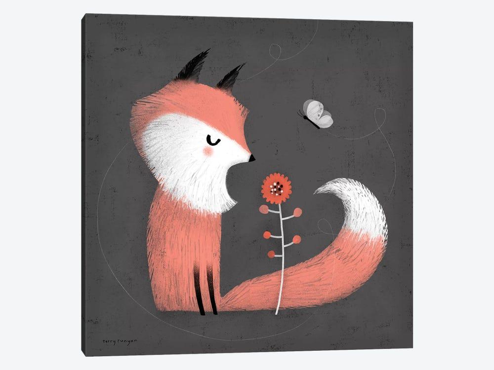 Pink Fox by Terry Runyan 1-piece Canvas Art Print