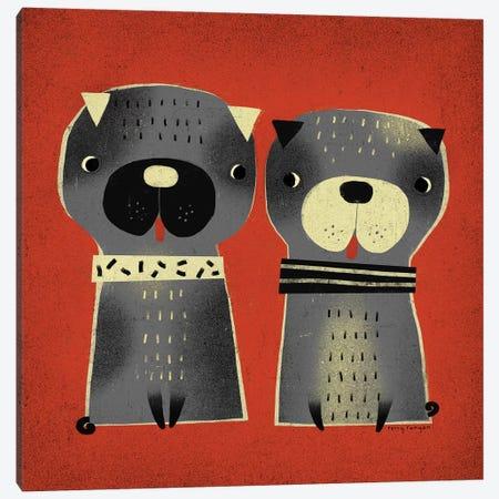 Pug Pair Canvas Print #TRU59} by Terry Runyan Canvas Print