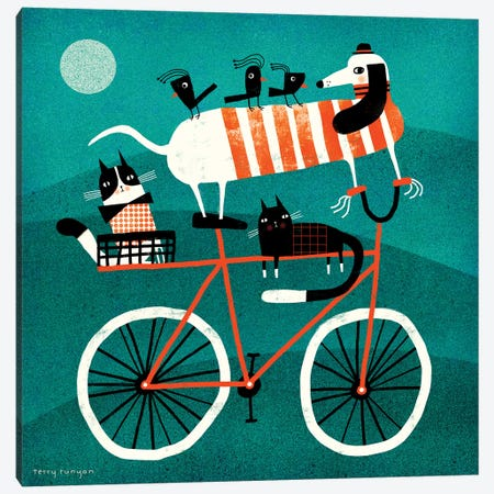 Bike Journey Canvas Print #TRU5} by Terry Runyan Canvas Art