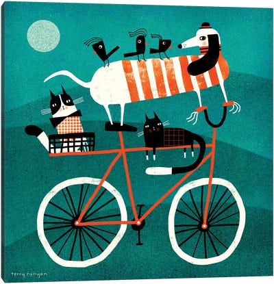 Bike Journey Canvas Art Print