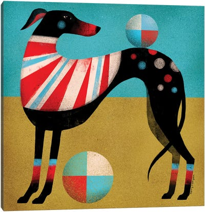 Race Dog Canvas Art Print