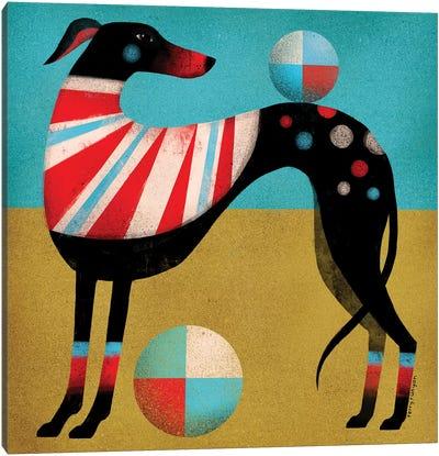 Race Dog Canvas Art Print