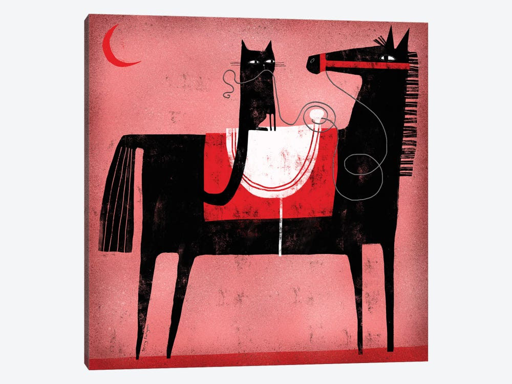 Red Moon by Terry Runyan 1-piece Art Print