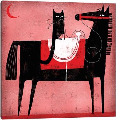 Red Moon Canvas Art Print