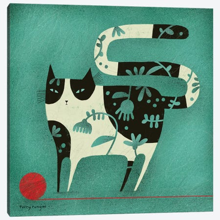 Red Yarn Canvas Print #TRU64} by Terry Runyan Art Print