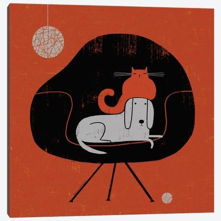 Retro Nap Canvas Print #TRU65} by Terry Runyan Canvas Print