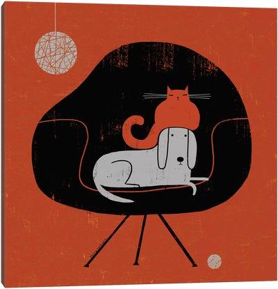 Retro Nap Canvas Art Print
