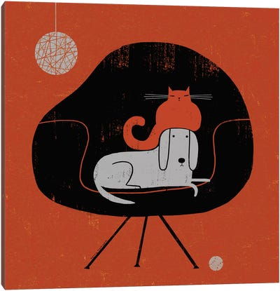 Retro Nap Canvas Art Print
