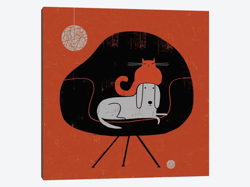 Retro Nap by Terry Runyan 1-piece Canvas Art