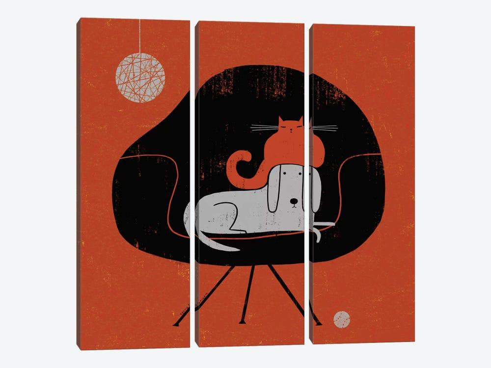 Retro Nap by Terry Runyan 3-piece Canvas Art