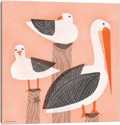Seaside Perch Canvas Art Print