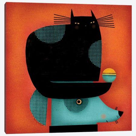 Black Cat On Head Canvas Print #TRU6} by Terry Runyan Canvas Wall Art