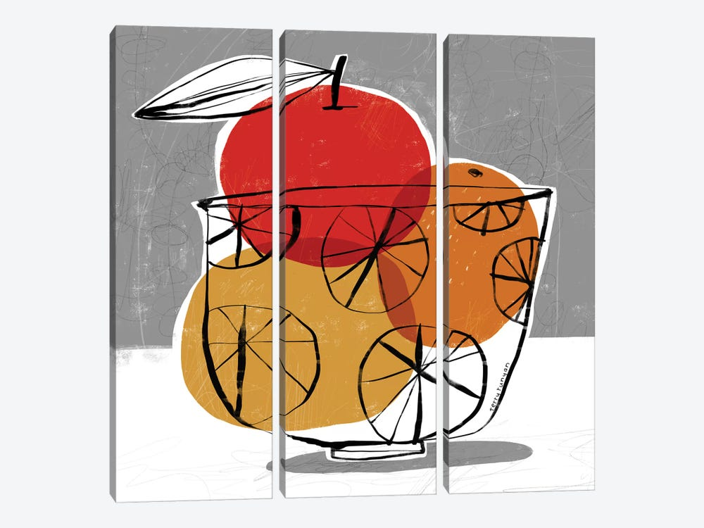 Simple Fruit by Terry Runyan 3-piece Canvas Art