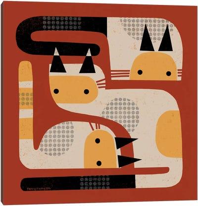 Simple Three Canvas Art Print