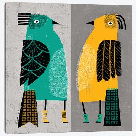 Standing Birds Canvas Print #TRU77} by Terry Runyan Canvas Art