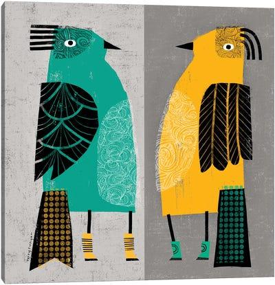 Standing Birds Canvas Art Print