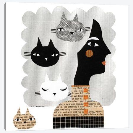 Stray Cat Canvas Print #TRU79} by Terry Runyan Canvas Art Print