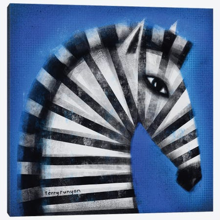 Striped Profile Canvas Print #TRU80} by Terry Runyan Canvas Artwork