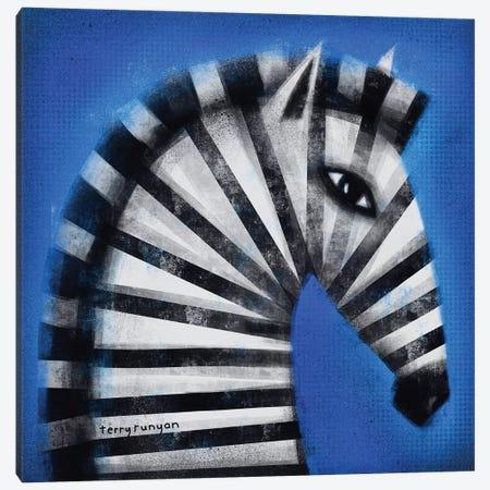 Striped Profile 3-Piece Canvas #TRU80} by Terry Runyan Canvas Artwork