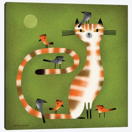 Tabby - Birds Canvas Print #TRU83} by Terry Runyan Canvas Artwork