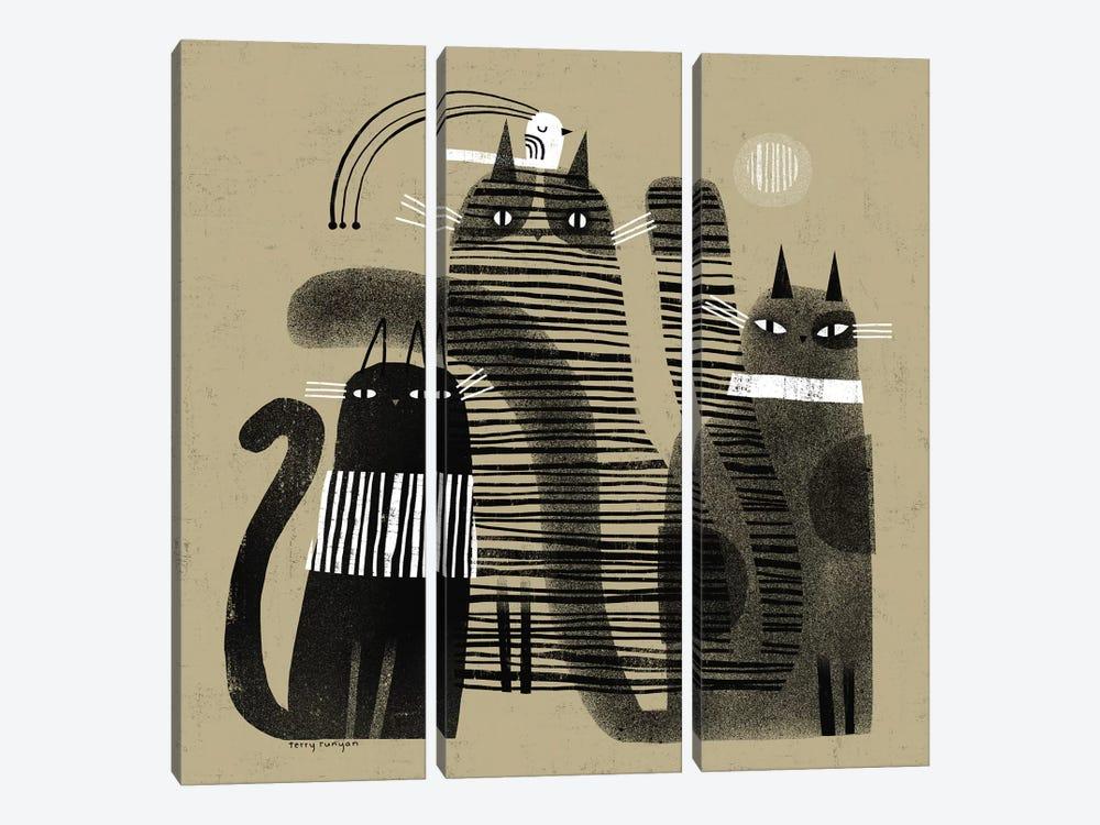 Three - One by Terry Runyan 3-piece Canvas Artwork