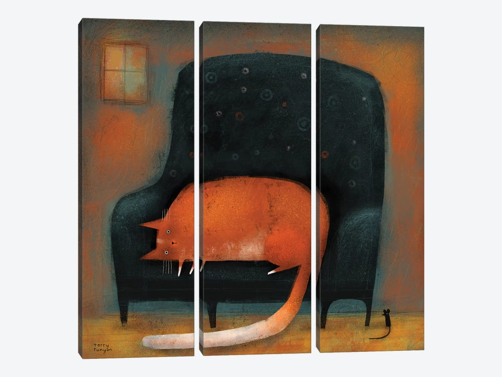 Tiny Mouse by Terry Runyan 3-piece Canvas Art Print