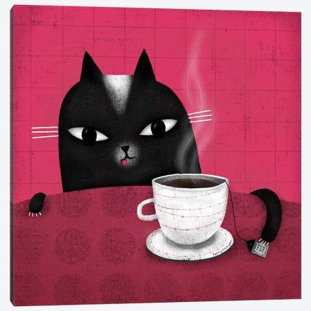 Catnip Tea Canvas Print #TRU97} by Terry Runyan Canvas Artwork