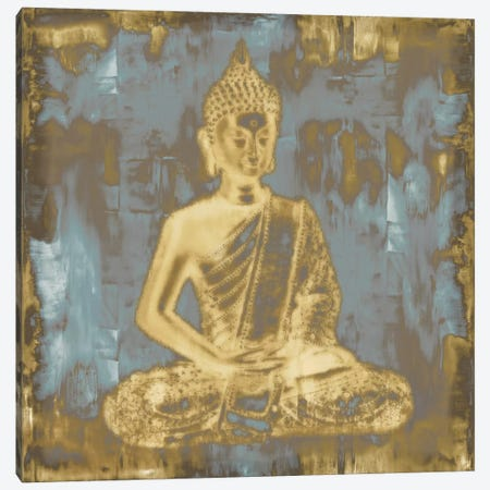 Meditating Buddha Canvas Print #TRY1} by Tom Bray Canvas Art Print