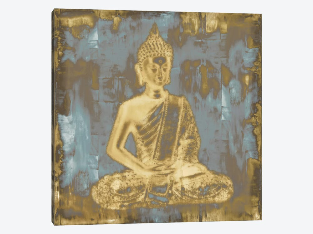 Meditating Buddha by Tom Bray 1-piece Art Print